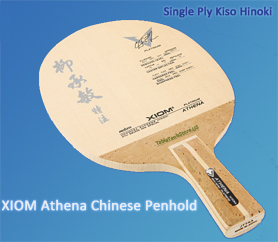 xiom chinese penhold single ply Hinoki